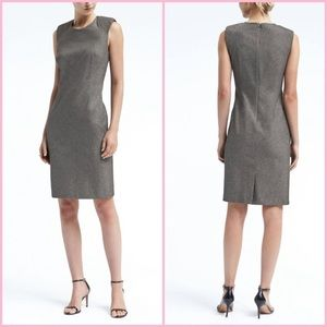 Banana Republic Gray Cap Sleeve Shirt Dress 16